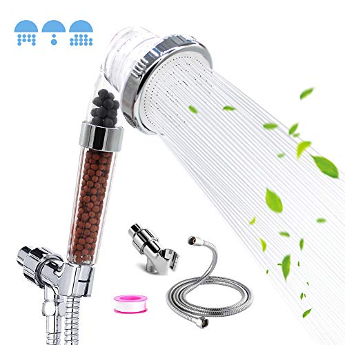 Ionic shower head, High pressure & water saving shower head, With 59 inch Replacement Hose and...