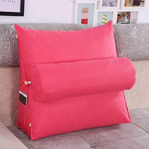 Cushion Cushion Three-Dimensional Bed Sofa Triangle Backrest Pillow Cushion Washable Cotton and Linen Sofa Cushion Headboard Pillow