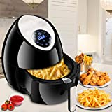 ZENY Electric Air Fryer w/Touch Screen Control 1500W 3.7QT, 7 Presets,...