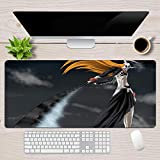 Gaming Mouse Pads Japan Bleach Anime Kurosaki Ichigo Mouse pad Non Slip Water Resistant Rubber Base Computer pad-39.419.70.1in