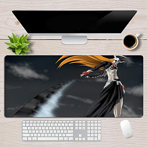 Gaming Mouse Pads Japan Bleach Anime Kurosaki Ichigo Mouse pad Non Slip Water Resistant Rubber Base Computer pad-31.511.80.1in