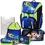 Soccer Champ - Football Fußball - Schulranzen-Set TOOLBAG SMART Schneiders 7tlg. mit SCHULSPORTTASCHE, FEDERMAPPE und BRUSTBEUTEL - 78321-070