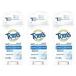 24-HOUR ODOR PROTECTION: Contains 6 - 2.25-ounce sticks of unscented, long-lasting natural deodorant. Toms deodorant uses odor-fighting hops to provide 24-hour odor protection ALUMINUM-FREE: Toms produces this natural deodorant without aluminum to re...