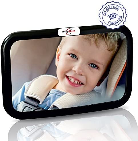 Baby Rear View Mirror for Rear Facing Car Seat Large Wide Angle Clear Backseat View Newborns product image