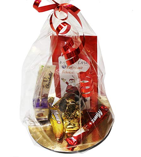 C&T Trüffel Schokolade Kaffee Geschenkset | Italienische Trüffel Pralinen + Trinkschokolade am Stiel + Schweizer Munz Schokolade + Schoko-Rum Weihnachtskaffee | Geschenk für Weihnachten
