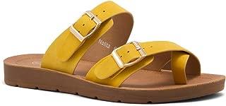 Nolita(SL) Women's Flat Gladiator Thong Sandals Greek Platform Low Wedge Shoes