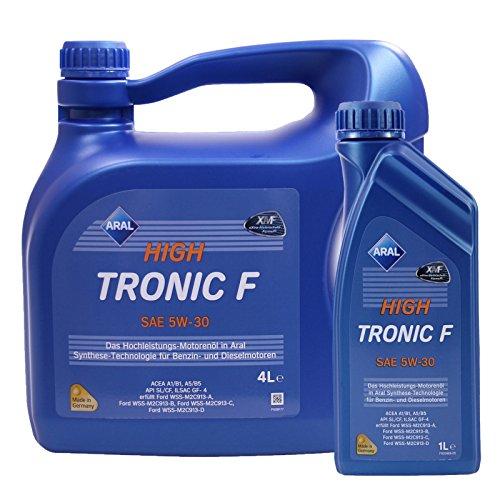 1 L + 4 L = 5 Liter ARAL HighTronic F 5W-30 Motoröl