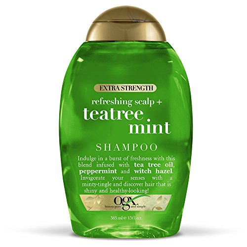 OGX Extra Strength Refreshing Scalp + Teatree Mint Shampoo, Invigorating Scalp Shampoo with Tea Tree...