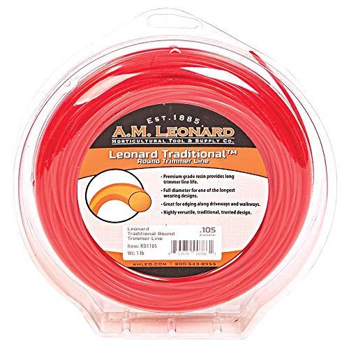 Best Buy! A.M. Leonard Traditional Round Trimmer Line.105-Inch Diameter, 1-Pound Donut