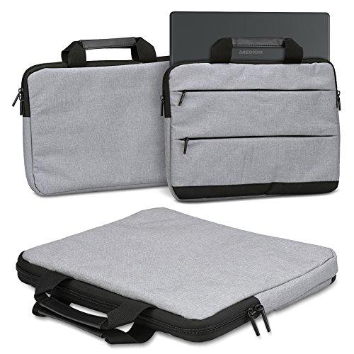 Schutzhülle kompatibel für Medion Erazer X17803 (MD63530) Laptop Tasche Sleeve Hülle Notebooktasche Hülle Cover in Grau oder Dunkel Grau, Farbe:Grau (Grey)