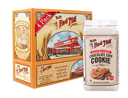 Bob#039s Red Mill Gluten Free Chocolate Chip Cookie Mix 22ounce Pack of 4