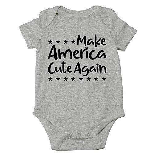 xdbgdfhdhdjdj Make America Cute Again - Disfraz de humor político para bebé – Lindo body de una pieza para bebé