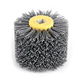 FTVOGUE Wire Wheel Brush, Abrasivos hilo cepillo Tambor abrillantador bruñido para muebles de...
