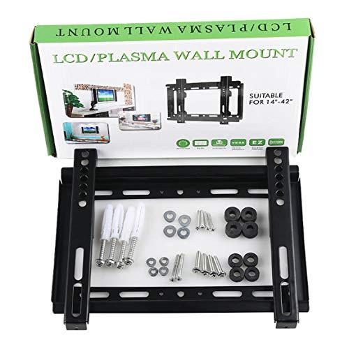 MOHAN88 Rack Universal para TV LCD de 32-70 Pulgadas 26-55 Pulgadas 1.2 Grueso GD02 14-42 Pulgadas GD01 Soporte de Pantalla para TV LCD montado en la Pared - Negro - 14-42'
