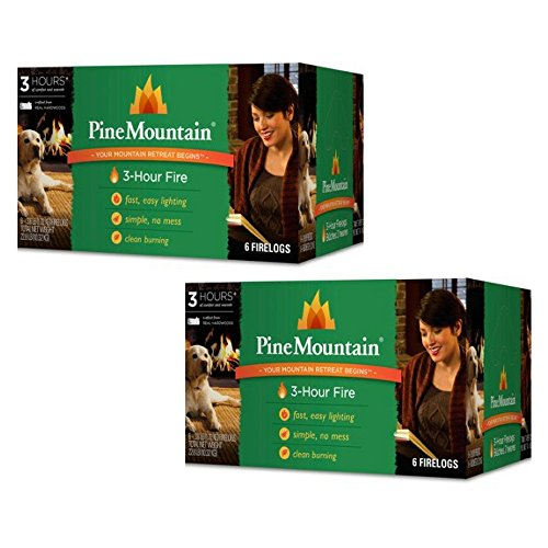 Pine Mountain 6-Pack, 3-Hour Firelogs, Easy Lighting - 2 count