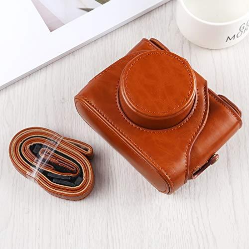 NIHAOA Handtasche Ganzkörper-Kamera PU-Leder Tasche mit Trageriemen for Fuji X10 / X20, Schwarz (Color : Brown)