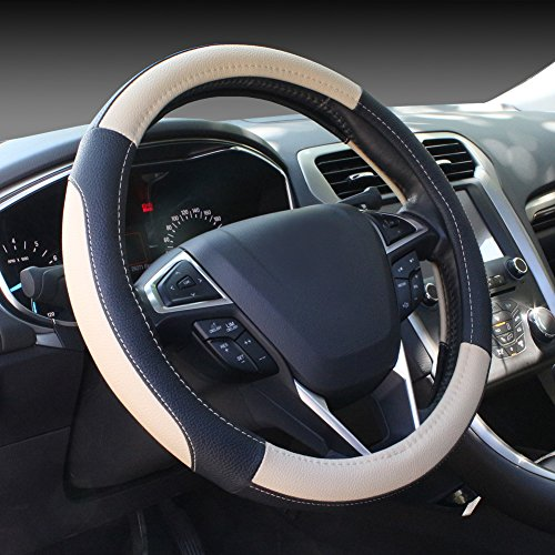 SEG Direct Black and Beige Microfiber Leather Auto Car...