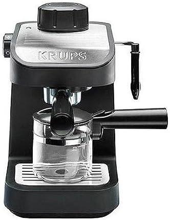 Rowenta/Krups xp1020Vapor Espresso/Capuchino/latte máquina, Semi-Automatic, Negro, Plateado