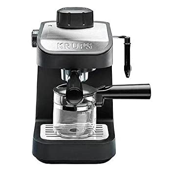 KRUPS XP1020 Steam Espresso Machine with Glass Carafe 4-Cup Black