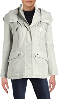 Womens Hollis Flight Satin Patch Pocket Car Coat with Detach Hood