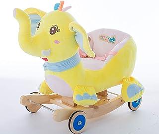 70d1ed011 Bebé Caballo de balancín de Madera, Caballo de Troya Caballo de balancín  con música Juguete