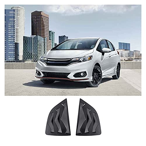QUXING CAR EXTERIOR LOUVER INTAKE VENT COVER SCOOPS FOR HONDA FIT JAZZ 2014-2019 CAR 1 | 4 SIDE VENT WINDOW SCOOP LOUVER TRIM 1 PAIR CAR HOOD LOUVERS