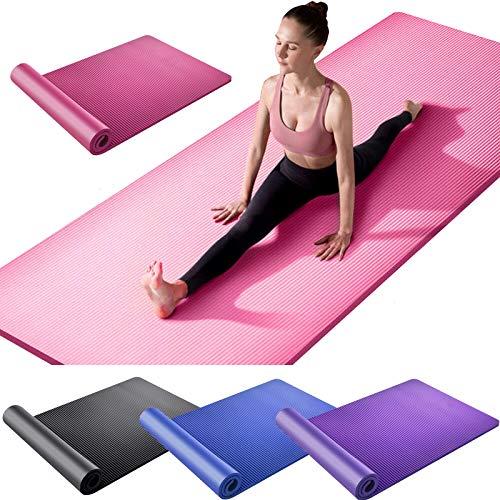 Esterilla de yoga de 61 x 180 cm de grosor de 15 mm de grosor para gimnasio, fitness, pilates, entrenamiento básico y rutinas de yoga