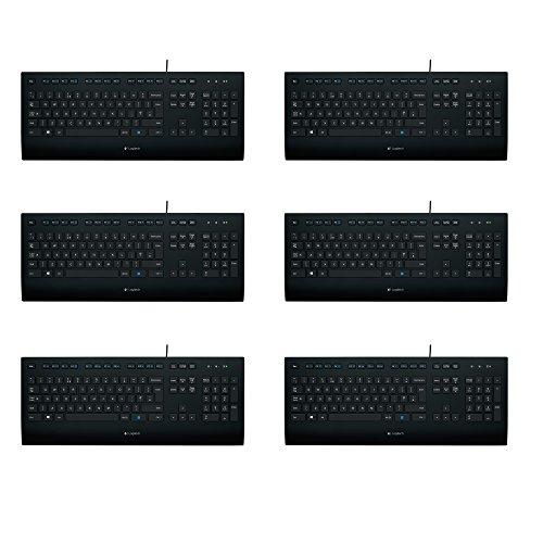 Logitech K280e Tastatur (Kabelgebunden, QWERTZ, Deutsche Layout) (Schwarz | Sparpack) (Schwarz | 6er Pack)