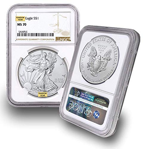 1986 – Present (Random Year) 1 oz Silver American Eagle MS-70 by CoinFolio $1 MS70 NGC