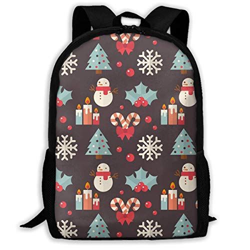 HOJJP Rucksack Travel Backpack Laptop Backpack Large Diaper Bag - Santa Claus Deer Backpack School Backpack for Women & Men