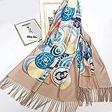 Otoño e invierno nuevas damas círculo de lana pequeñas fragancias bufandas Joker protector solar popular bufanda de moda cálida y transpirable bufanda@si_190cm