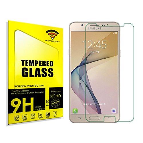 actecom® Protector Pantalla Compatible con Samsung Galaxy J7 2017 Cristal Vidrio Templado