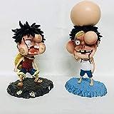Woprise One Piece Monkey D Luffy Nendoroid Action Personaggi Anime - 15cm PVC Statue Bambole Decorazione Fans Regalo 2 Camere/Set