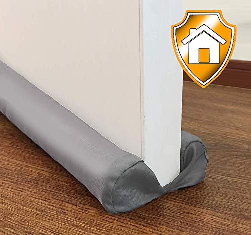 MAXTID Bottom Door Draft Stopper 32 to 38 inches Grey Adjustable Insulation Sound Proof Door Draft Blocker for Noise Light Smell Stopper