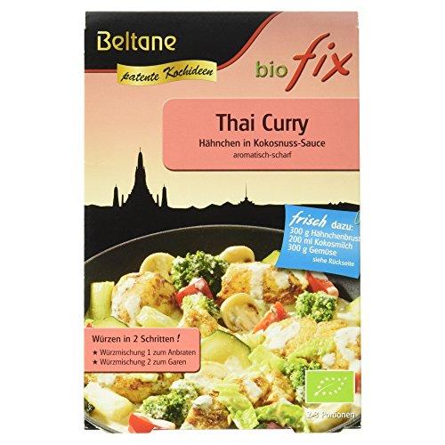 Beltane Biofix für Thai Curry Hähnchen in Kokosnuss-Sauce, glutenfrei, laktosefrei, vegan, 21 g