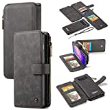 Kunyun for Huawei S10 Plus Amovible Fold Wallet, Huawei S10 Plus Vintage en Cuir, Boutons...