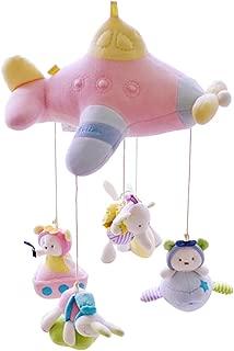 SHILOH Baby Crib Decoration Newborn Gift Plush Musical Mobile (Pink Airship)