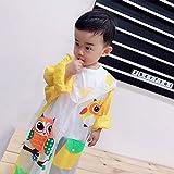 jjh Basurero inflable para niños, para niños, niños, niños, niños, niños, niños y niñas, bolsa para la escuela, poncho grueso (color: amarillo, tamaño: XXL)
