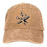shenguang Gorra de Mezclilla de béisbol Ajustable de Perfil bajo de Sarga de algodón teñida y...