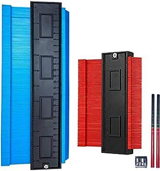 Master Outline Gauge Duplicator - Selkie 5pcs Contour Gauge Tool Kits 5  and 10  Inch Profile Gauge Shape Duplicator Precisely Copy Irregular Shapes W/2 Penciles