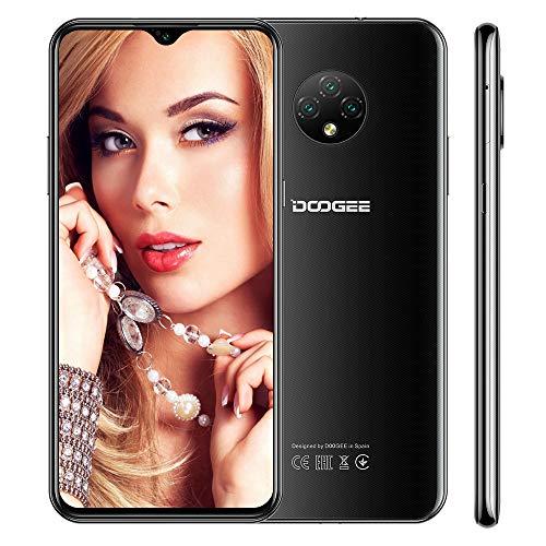 Cellulari Offerta 4G DOOGEE X95 PRO Android 10.0 Smartphone, 4GB+32GB, 6,52 Pollici, Batteria 4350mAh,13MP+2MP+2MP+5MP Tripla Fotocamera, Quad Core, Face ID, Nero