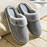 Inverno Pantofole Coppia caldo domestici pantofole di cotone donne di inverno pattini del cotone a casa signore coperte pantofole in lana spessa suola Pantofole ( Color : A , Size : 42-43 )
