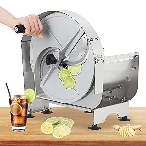 NEWTRY Commercial Vegetable Slicer Shredder Fruit Slicer 0-12mm (15/32inch) Thickness Adjustable...