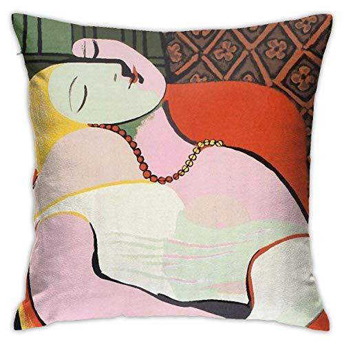 pingshang Der Traum Pablo Picasso Kissenbezug Home Decor Soft Square Kissenbezug für Bett Couch Sofa Bauernhaus Kissenbezüge beide Seiten (18x18)