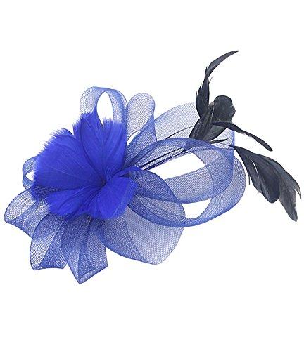 Urban CoCo Women's Vintage Flower Feather Mesh Net Fascinator Hair Clip Hat Party Wedding