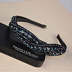 Blue Rhinestone Hairband