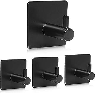 NEEMAY Hooks Adhesive Wall Hooks Bathroom Hanger Self-adhesive Heavy Duty Towel Shower Hooks Wall Mount Stick On 304 Stain...