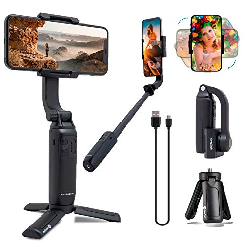 FeiyuTech Gimbal Stabilizer for Smartphone, Vimble One Anti-Shake Foldable Gimbal Handheld Selfie Stick Tripod for iPhone Android with 18cm Extensional Stick, Vlog YouTube Live Video TikTok