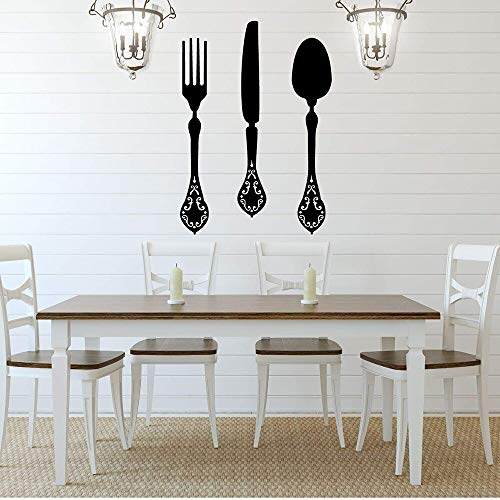 Fork Knife Spoon Vinyl Wall Sticker Cutlery | Kitchen and Dining Wall Sticker Vinyl Home Decor