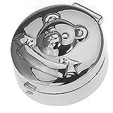 SILBERKANNE Haardose Pillendose Zahndose Teddy D 3 cm Silber 925 Sterling in Top Verarbeitung